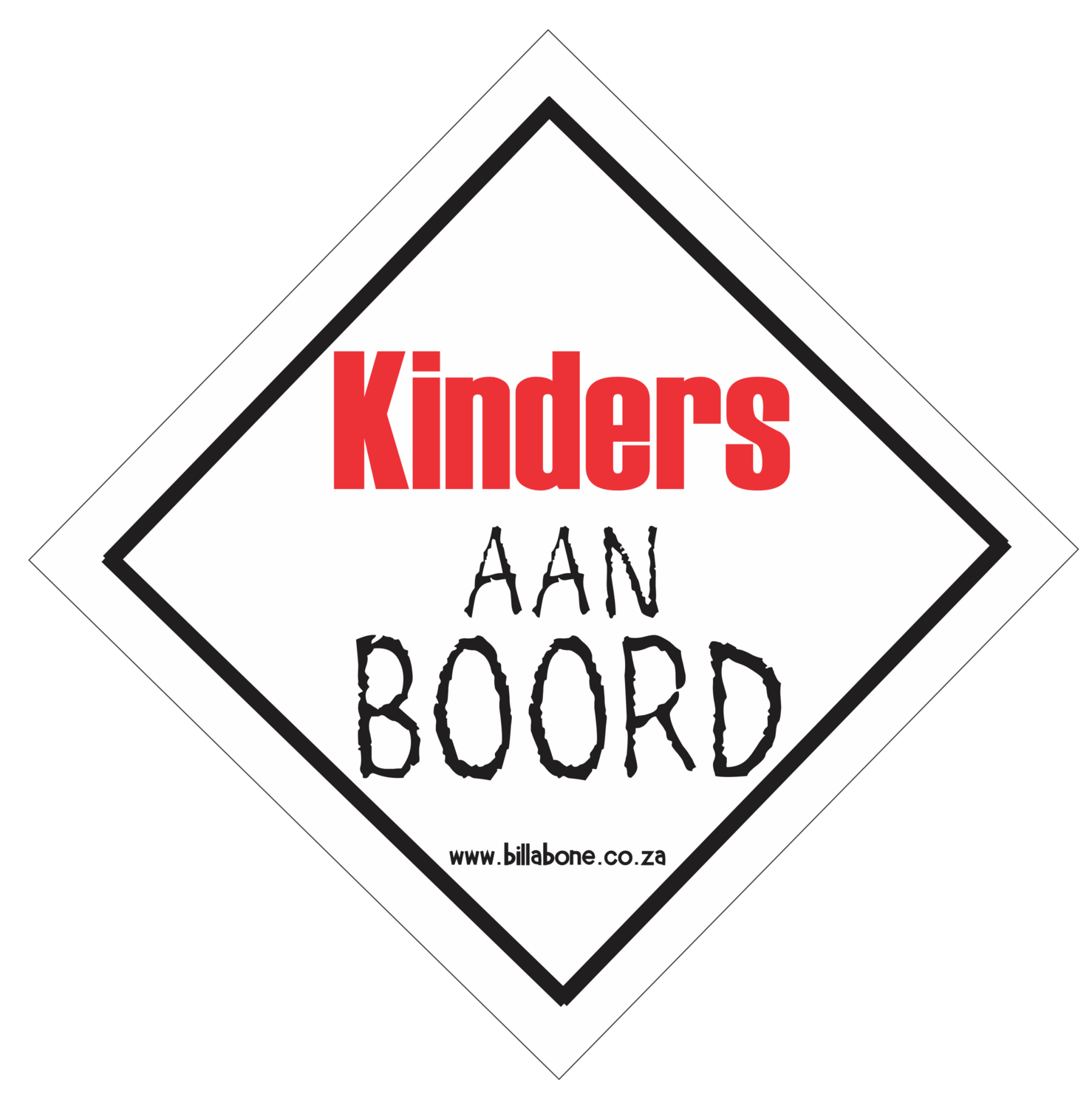 Kinders aan Boord Car Sign or Sticker