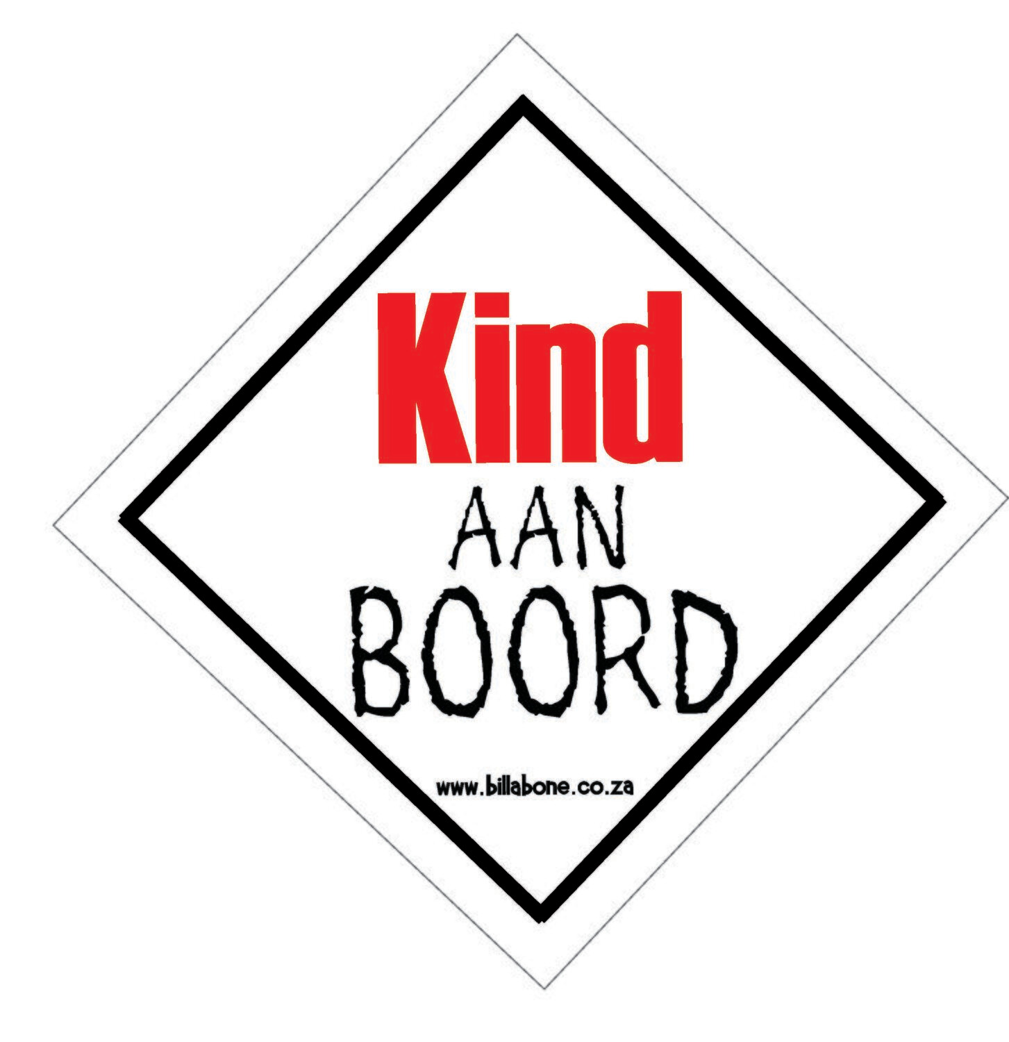 Kind aan Boord Car Sign or Sticker