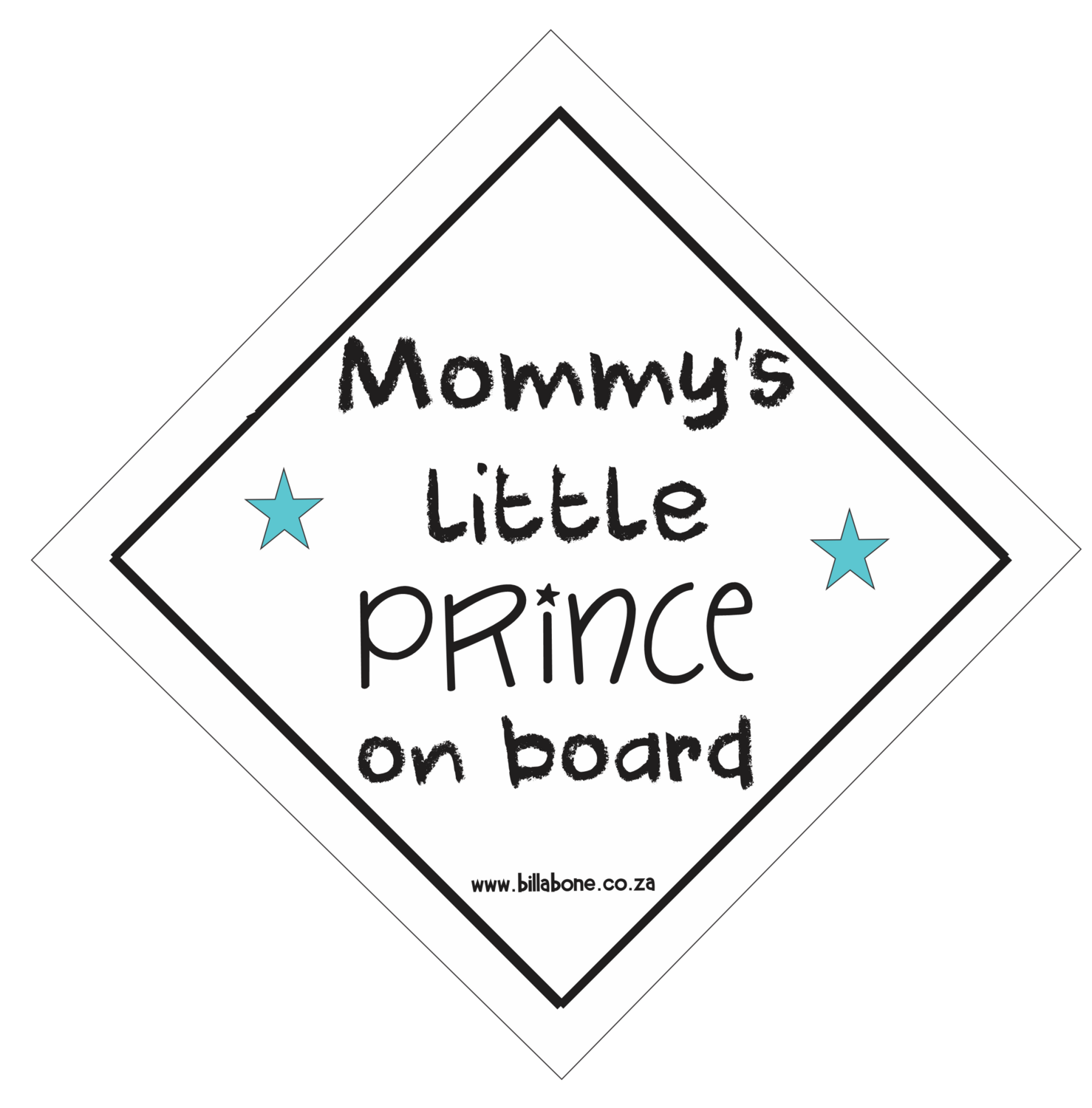 Mommy's Little Prince On Board Car Sign or Sticker