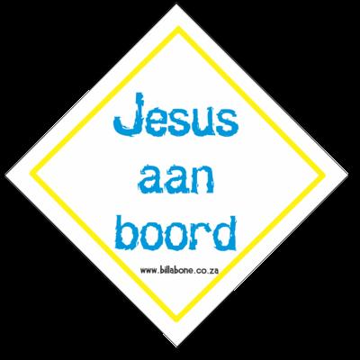 Jesus aan Boord - Car Sign or Sticker