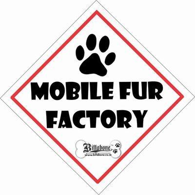 Mobile Fur Factory Car Sign or Sticker