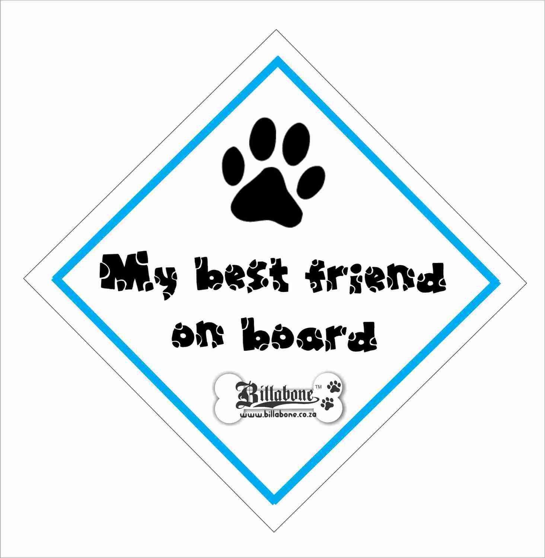 Billabone - My best friend on board On Board Sign or Decal