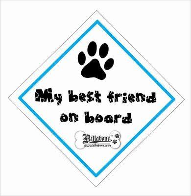 My best friend on board On Board Sign or Sticker