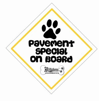Pavement Special On Board Car Sign or Sticker