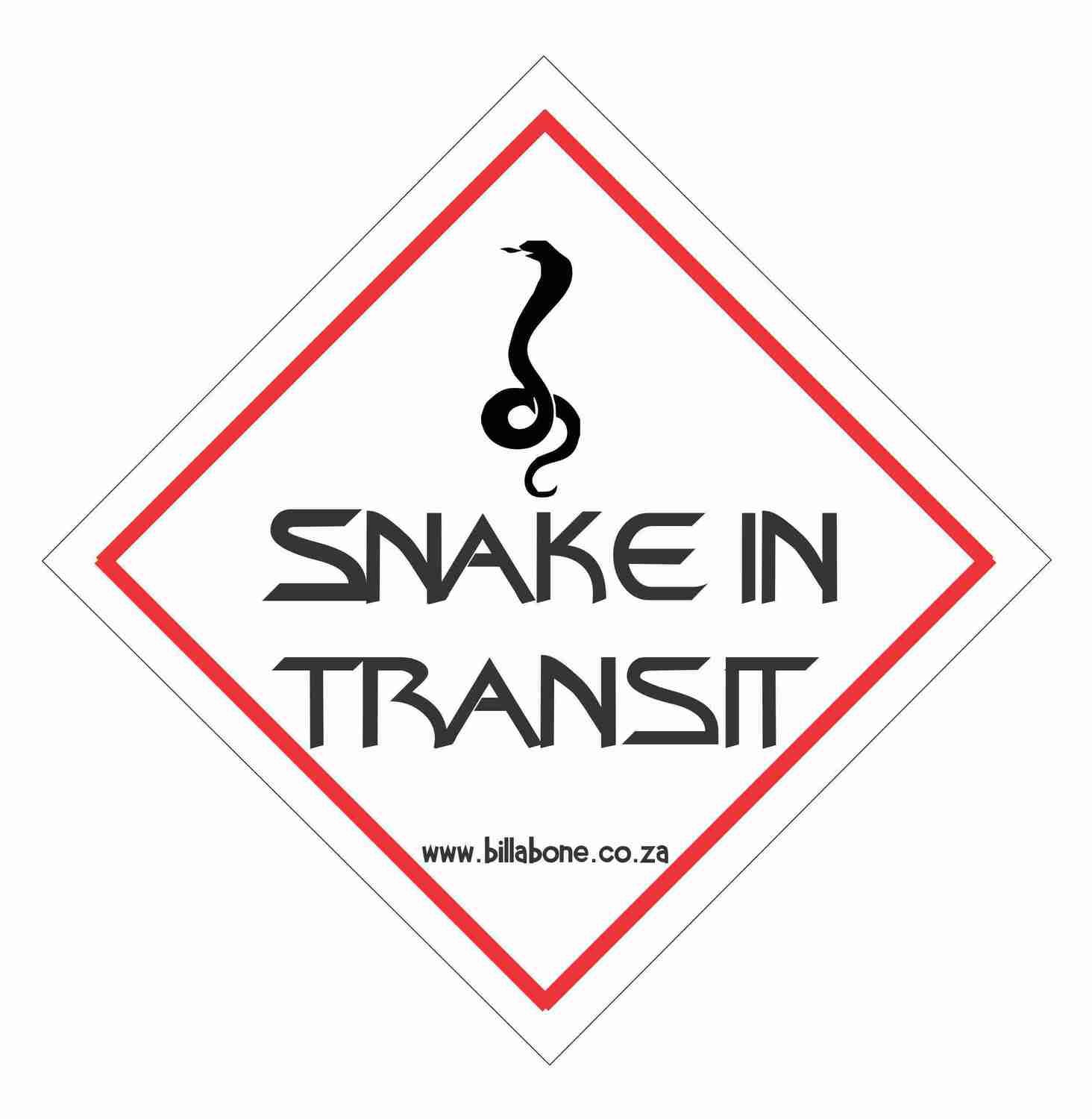 Billabone - Snake in transit On Board Sign or Decal