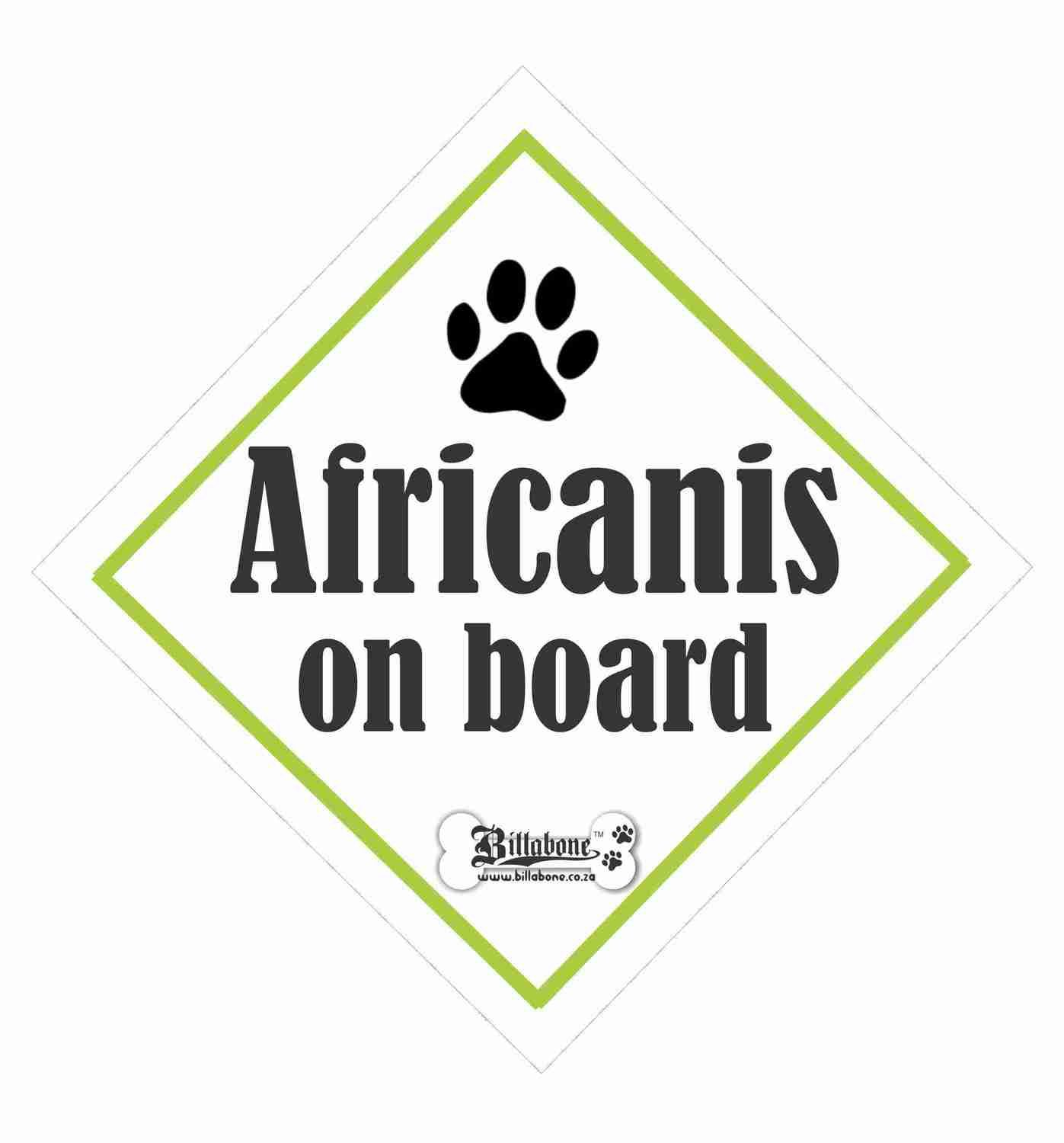 Africanis Car On Board Sign or Sticker