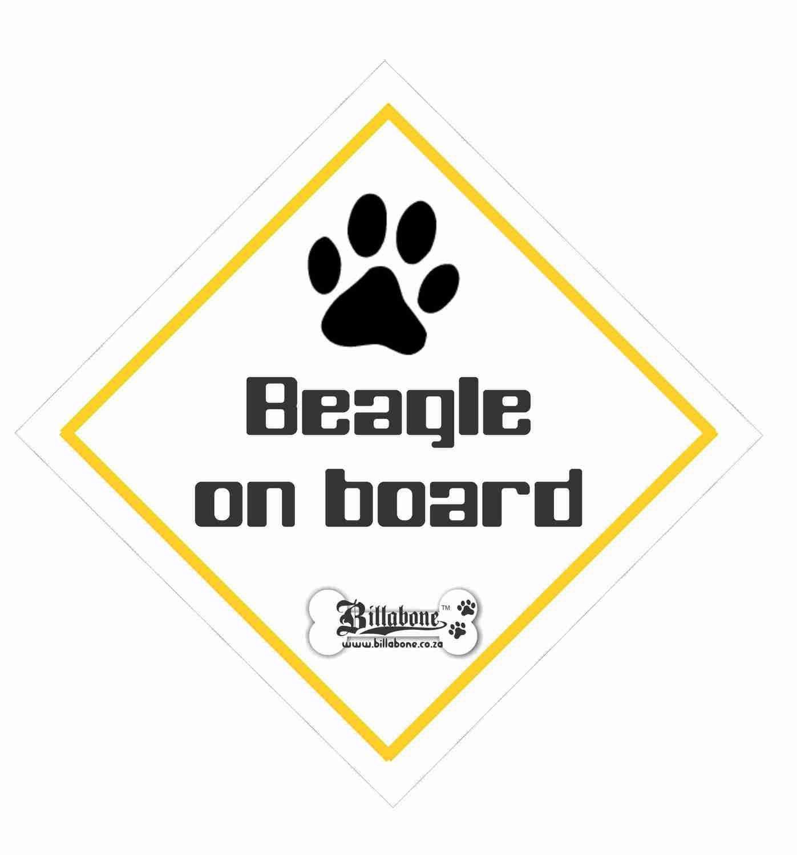 Billabone - Beagle On Board Sign or Decal