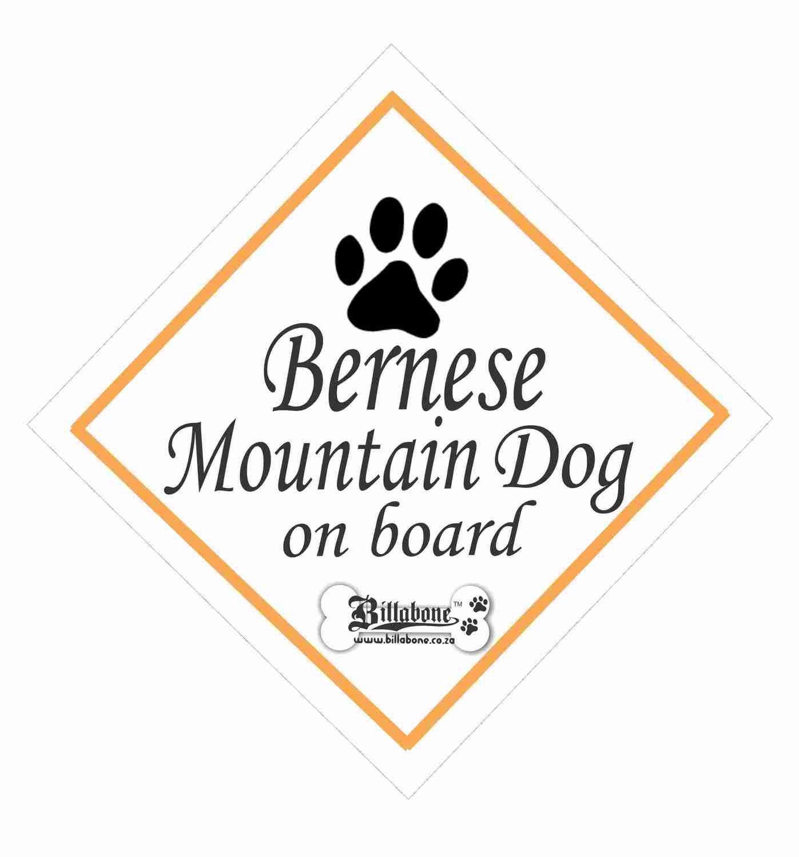 Billabone - Bernese Mountain Dog On Board Sign or Decal