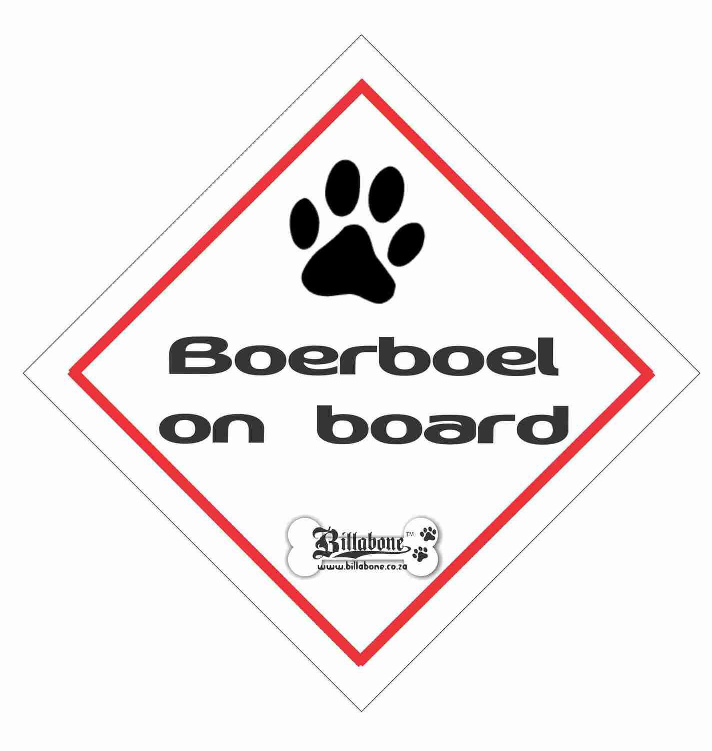 Boerboel On Board Sign or Sticker
