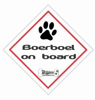 Boerboel On Board Sign or Sticker