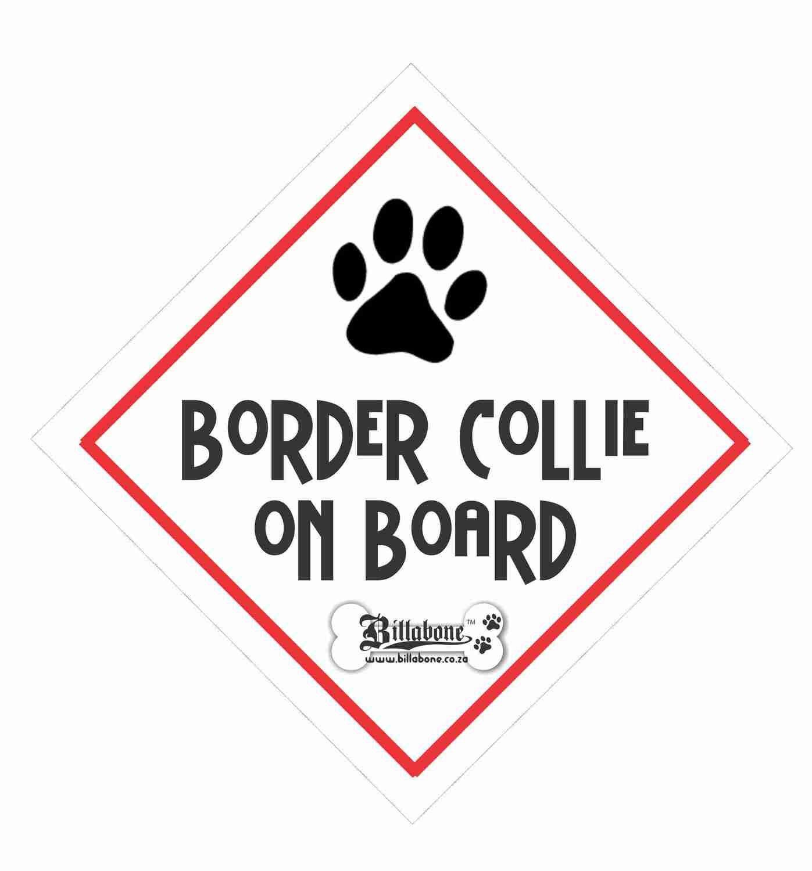 Billabone - Border Collie On Board Sign or Decal