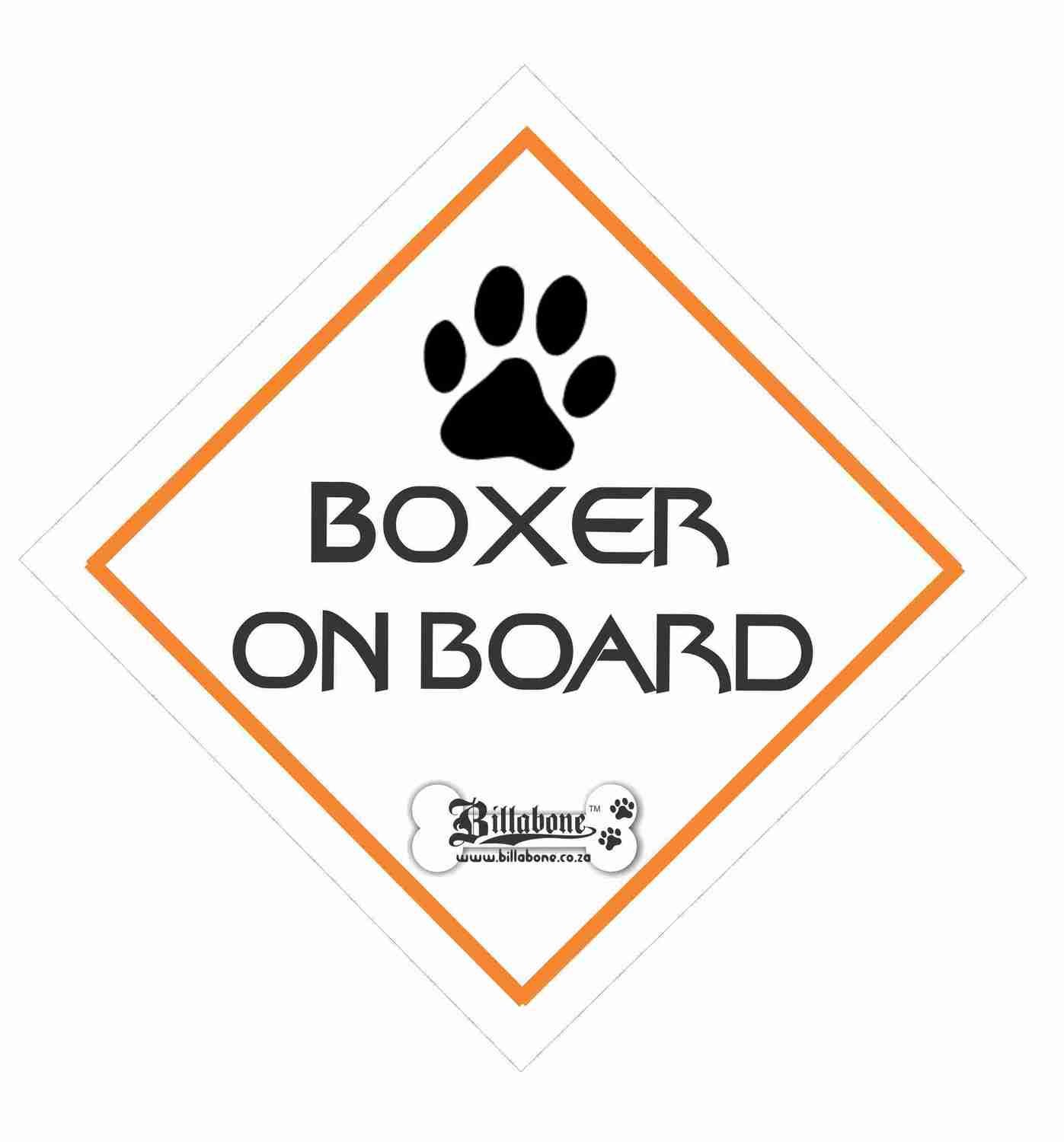 Boxer On Board Sign or Sticker