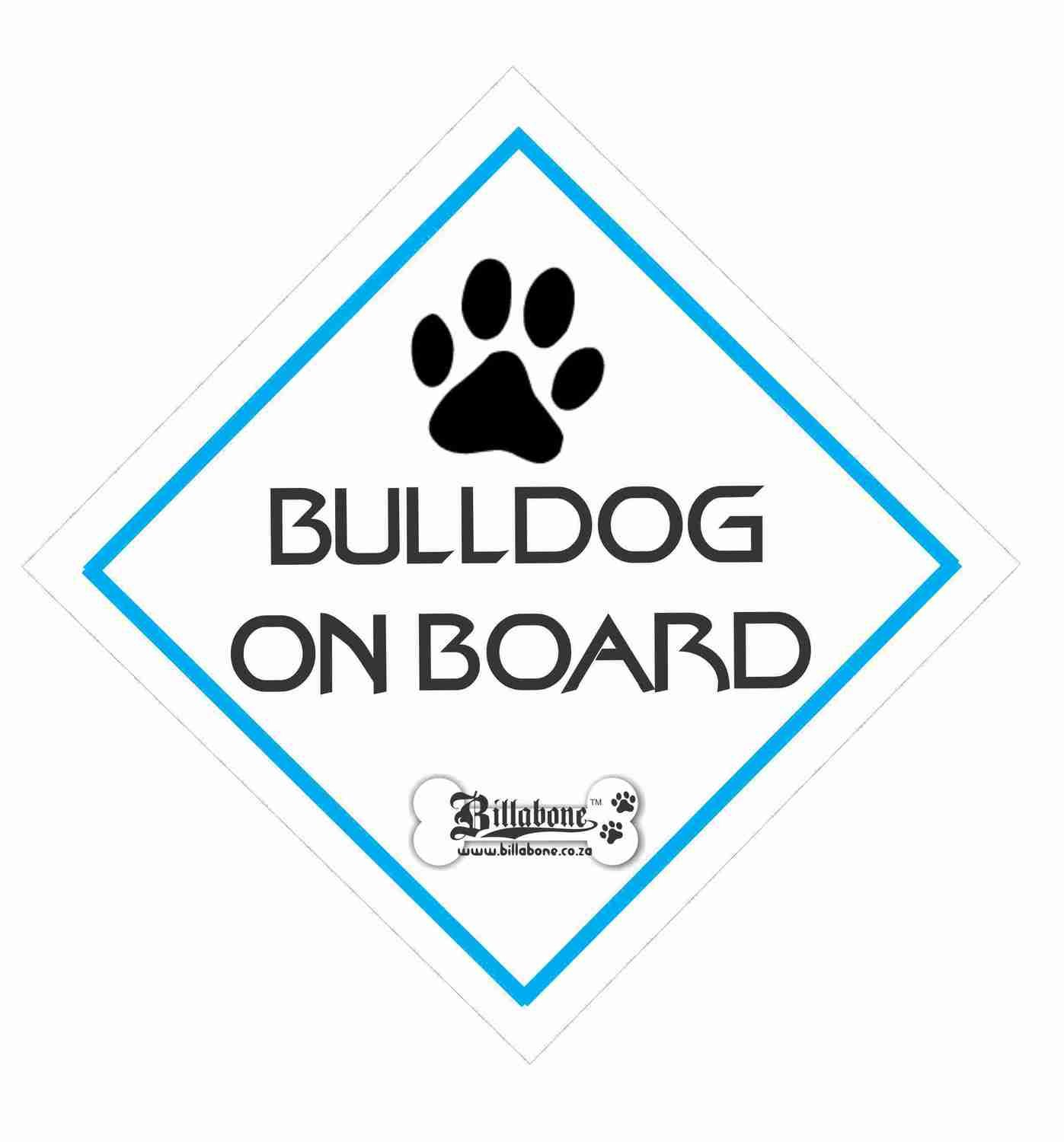 Billabone - Bull Dog On Board Sign or Decal