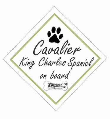 Cavalier King Charles Spaniel On Board Sign or Sticker