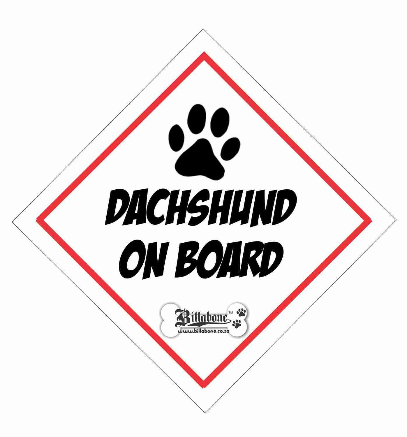 Dachshund On Board Sign or Decal