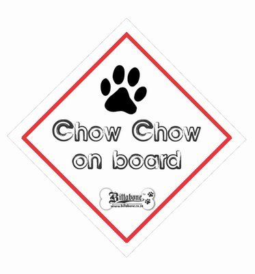 Chow Chow On Board Car Sign or Sticker