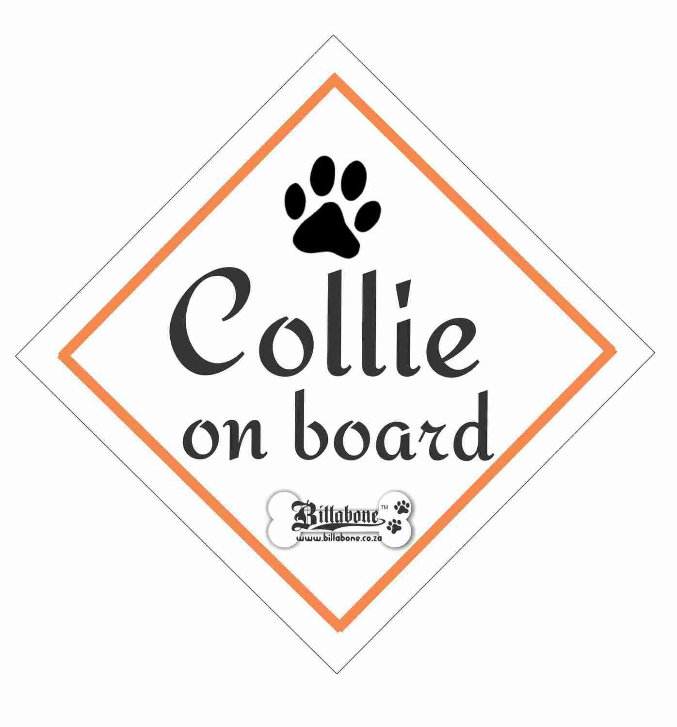 Billabone - Collie On Board Sign or Decal