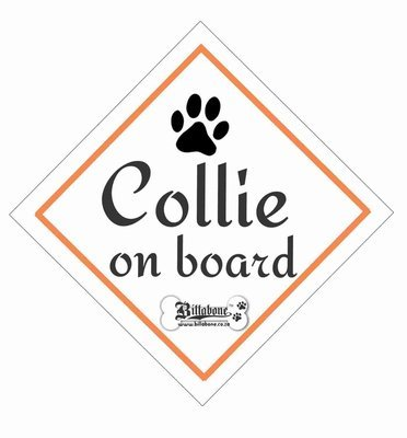 Collie On Board Sign or Sticker