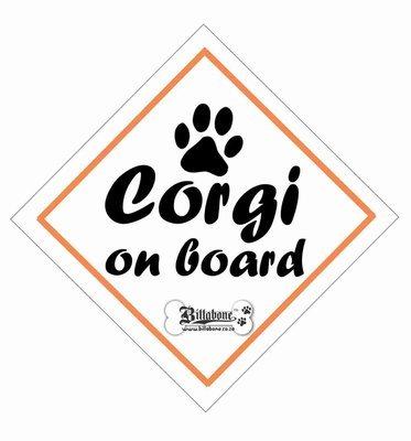 Corgi On Board Sign or Sticker
