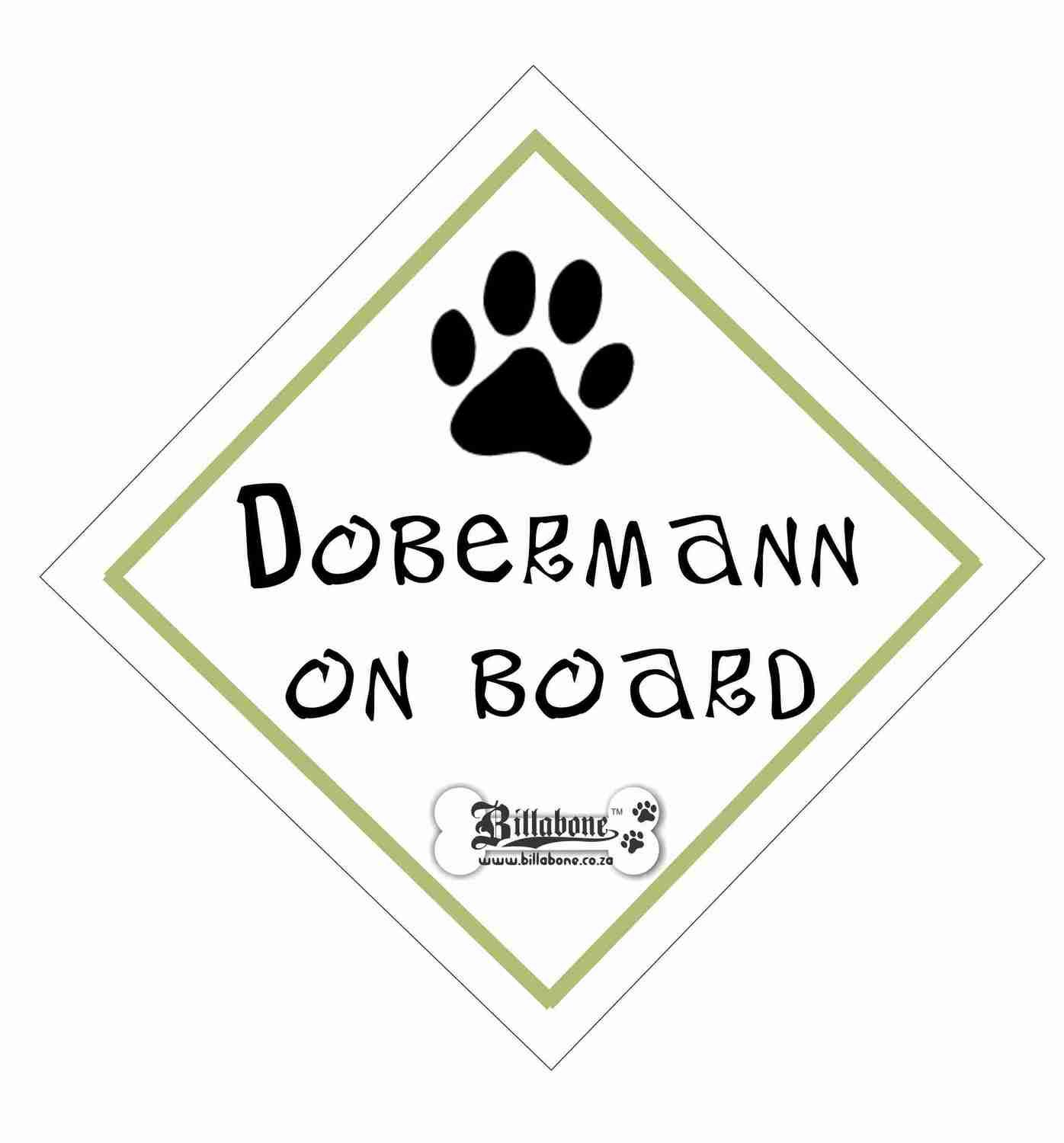 Billabone - Dobermann On Board Sign or Decal
