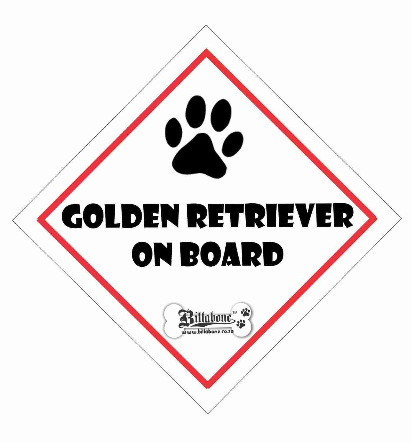 Golden Retriever On Board Sign or Sticker