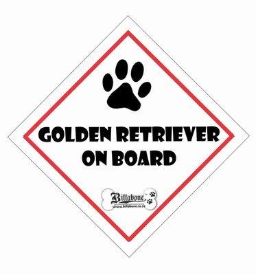 Golden Retriever On Board Sign or Sticker