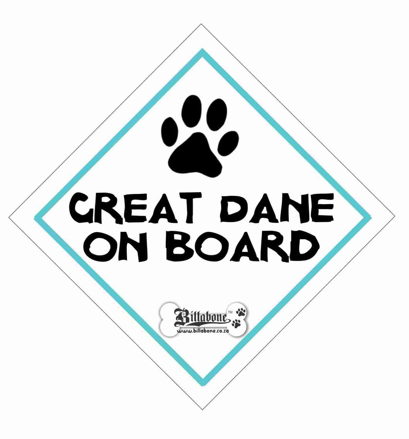 Great Dane On Board Sign or Sticker