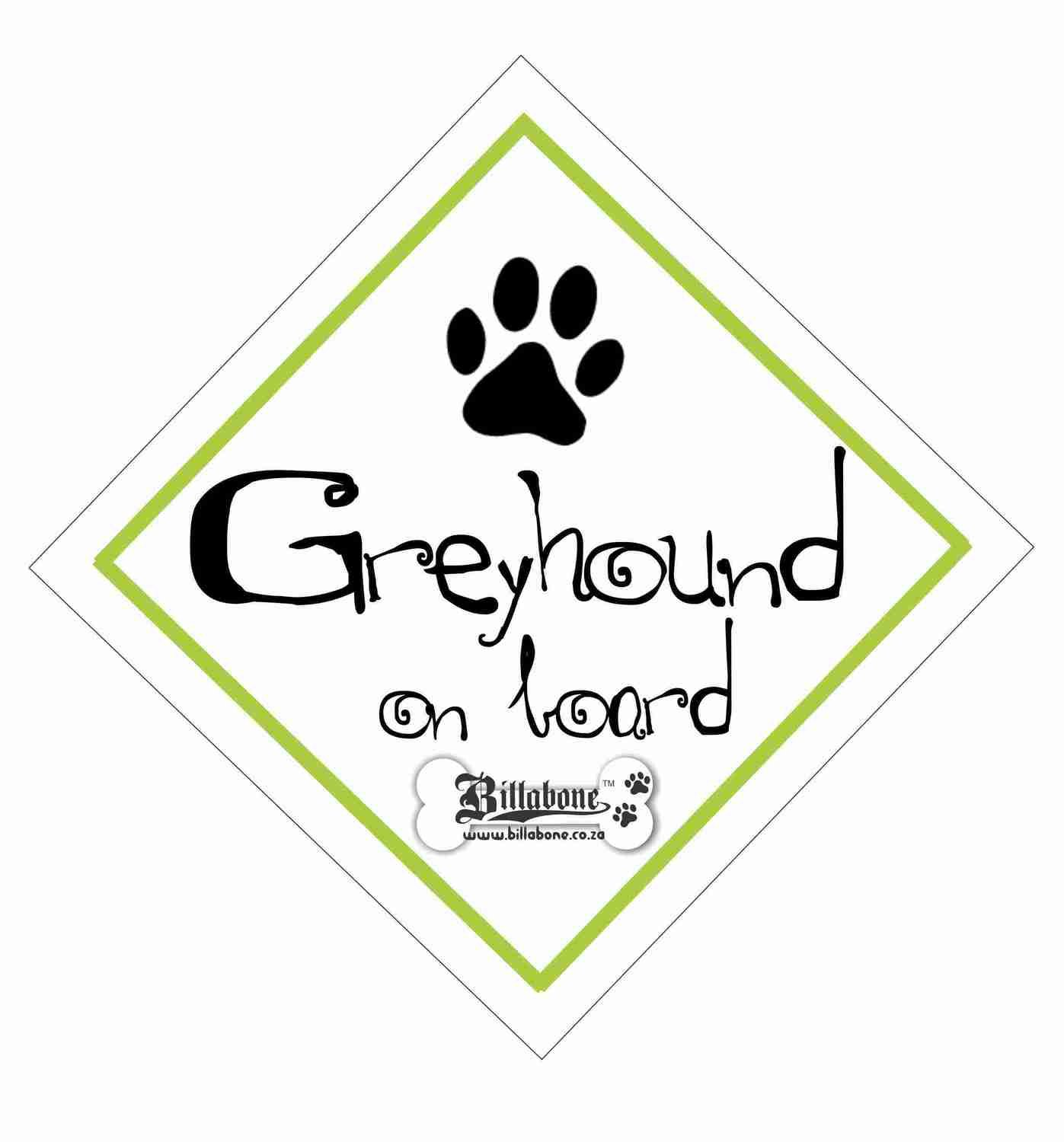 Greyhound On Board Sign or Sticker