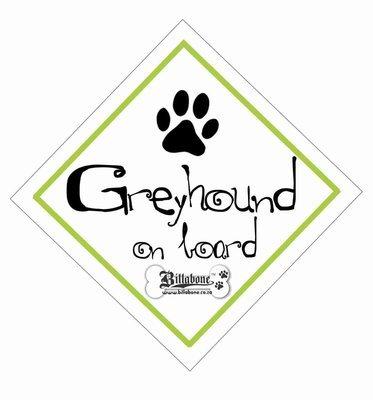 Greyhound On Board Sign or Sticker