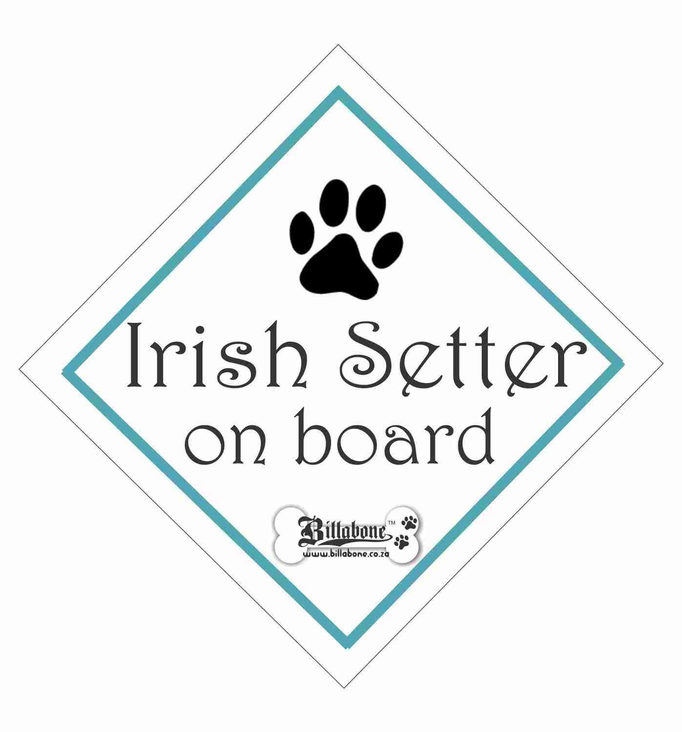 Irish Setter On Board Sign or Sticker