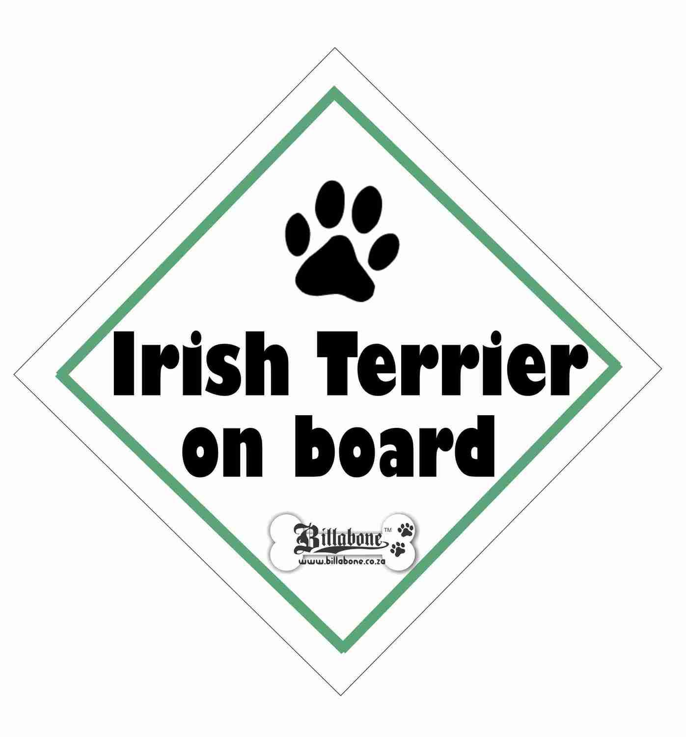 Irish Terrier On Board Sign or Sticker