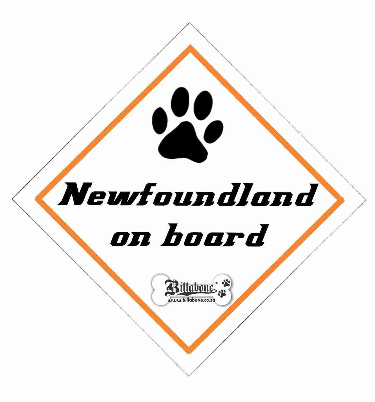 Newfoundland On Board Sign or Sticker