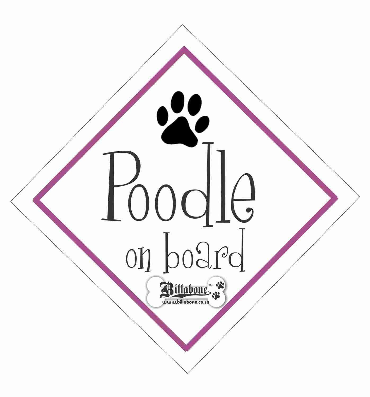 Billabone - Poodle On Board Sign or Decal