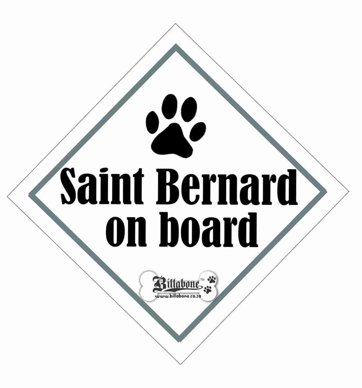 Saint Bernard On Board Sign or Sticker
