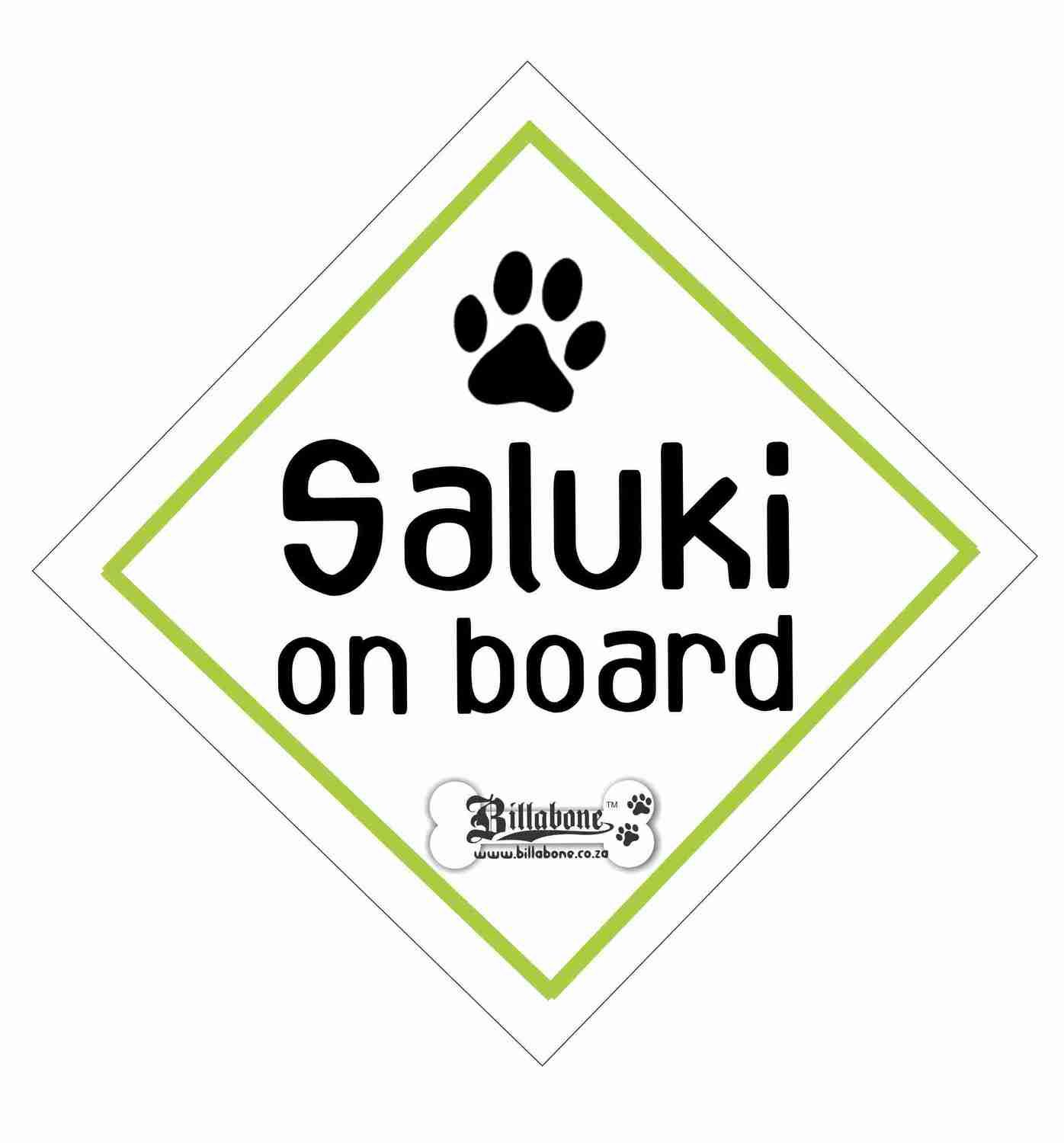 Saluki On Board Sign or Sticker