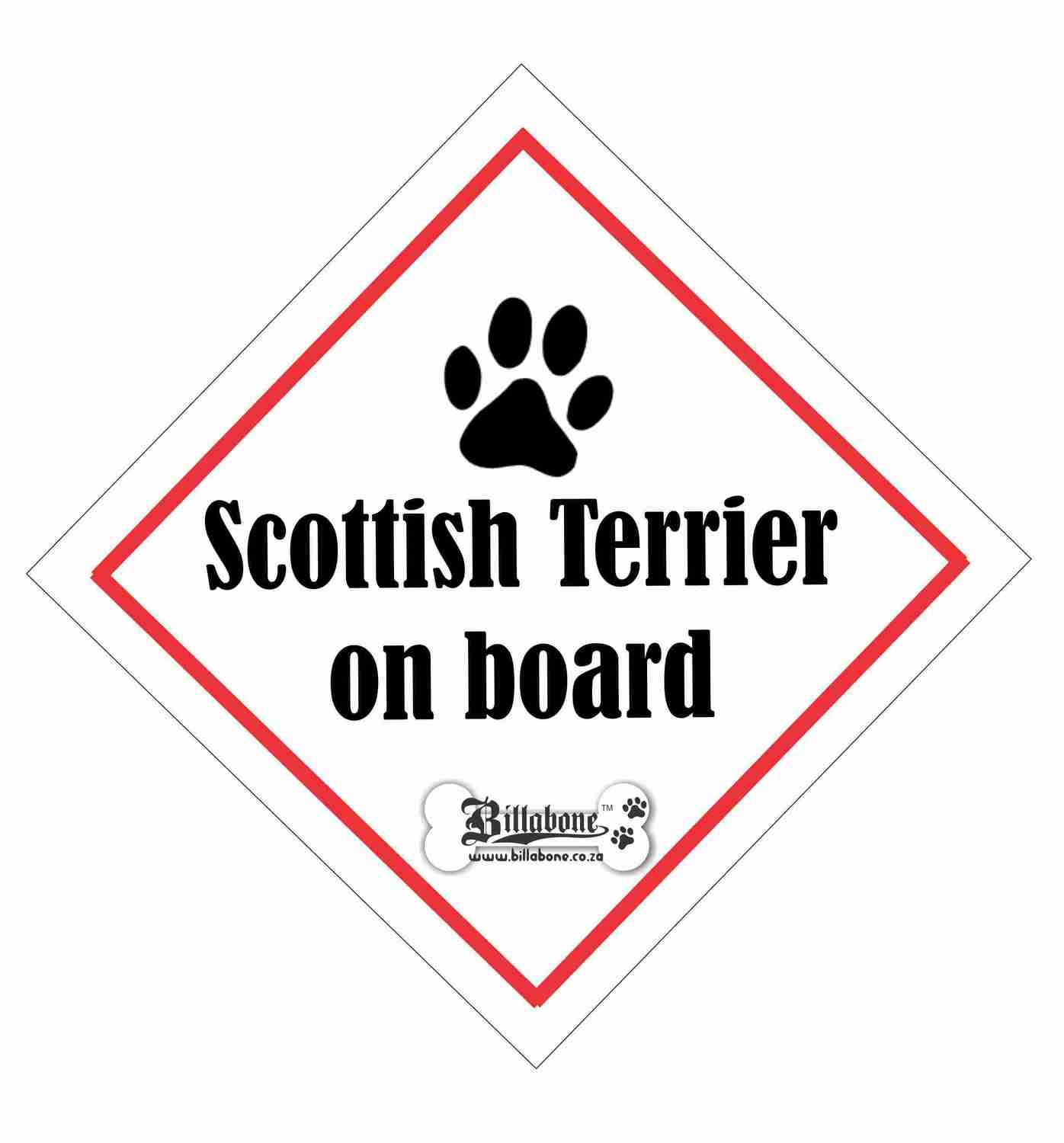 Scottish Terrier On Board Sign or Sticker