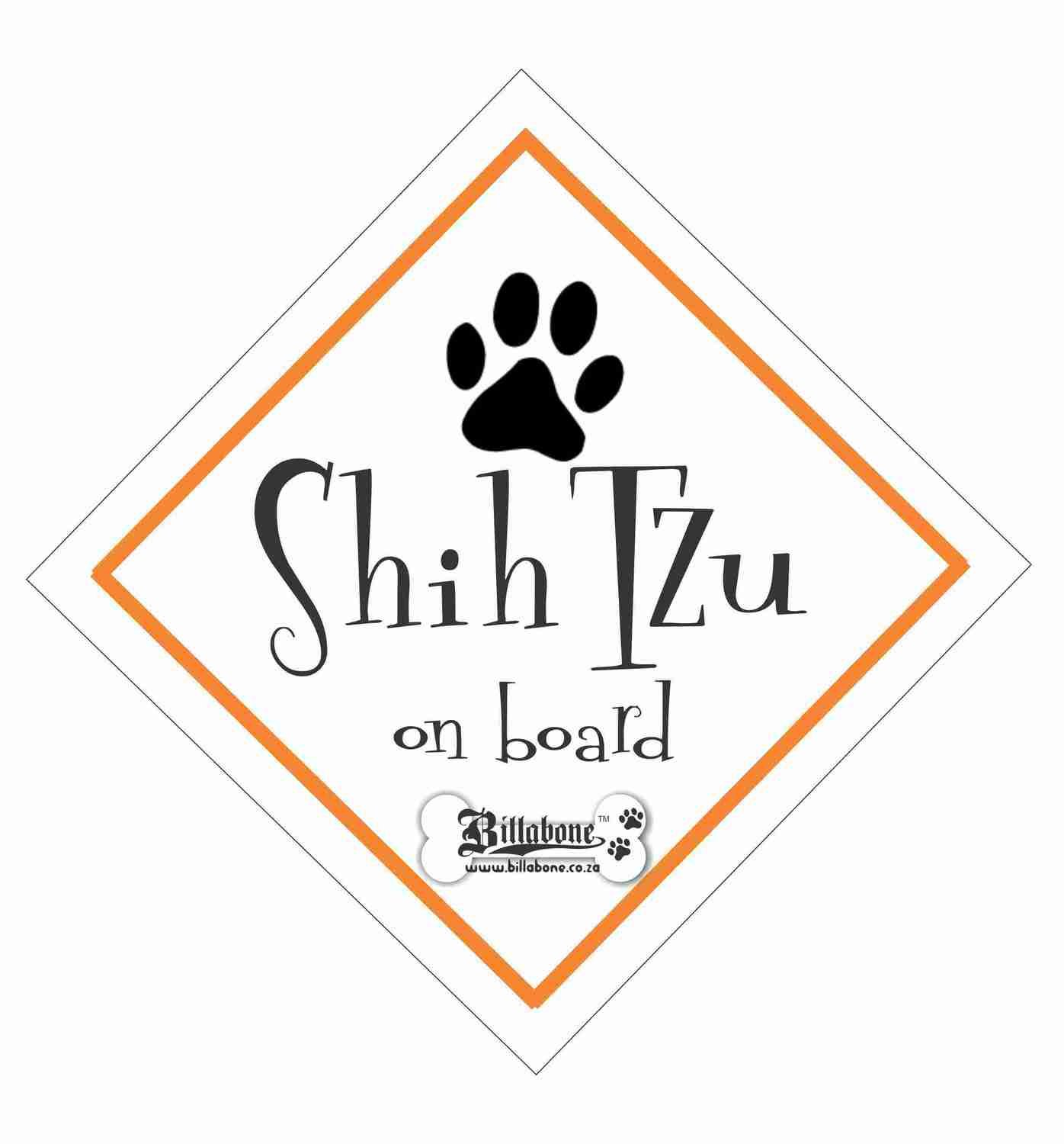 Shih Tzu On Board Sign or Sticker
