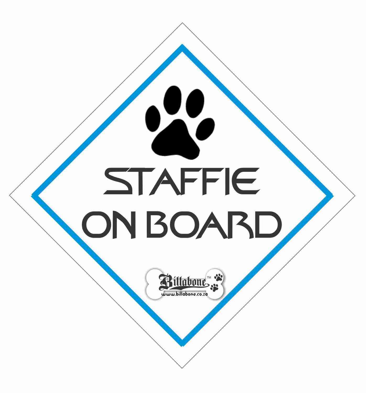 Billabone - Staffie On Board Sign or Decal
