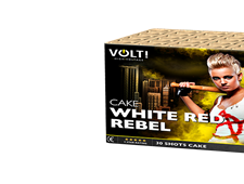 FD321 76205  - White Red Rebel 30 Shot Barrage