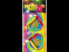 1078 - Tri Colour Wheels 2pce
