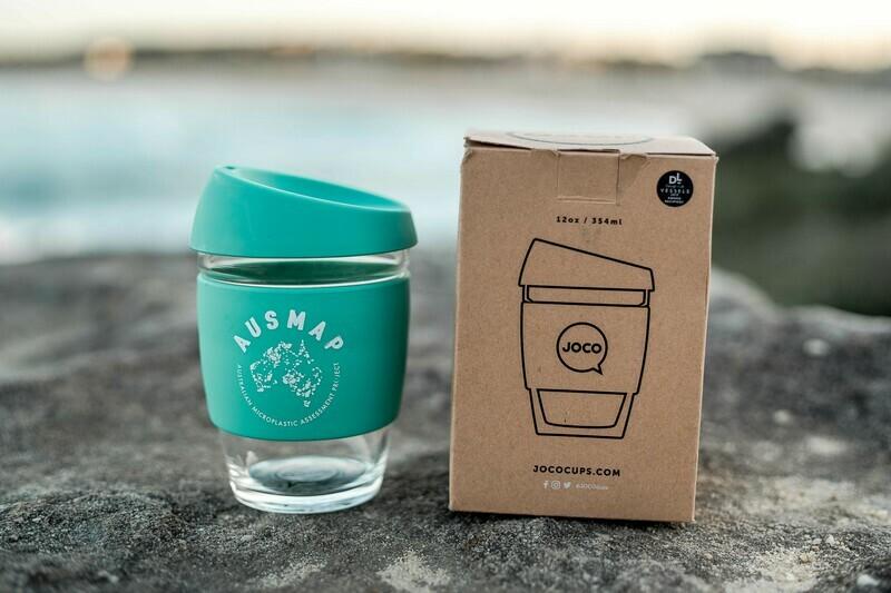 AUSMAP JOCO Reusable Glass Coffee Cup 12oz