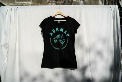 AUSMAP Logo Black T-shirt
