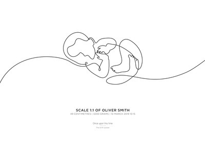 Abstract Birth Poster: Bundle of Love