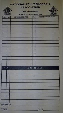 NABA Official Logo Lineup Cards