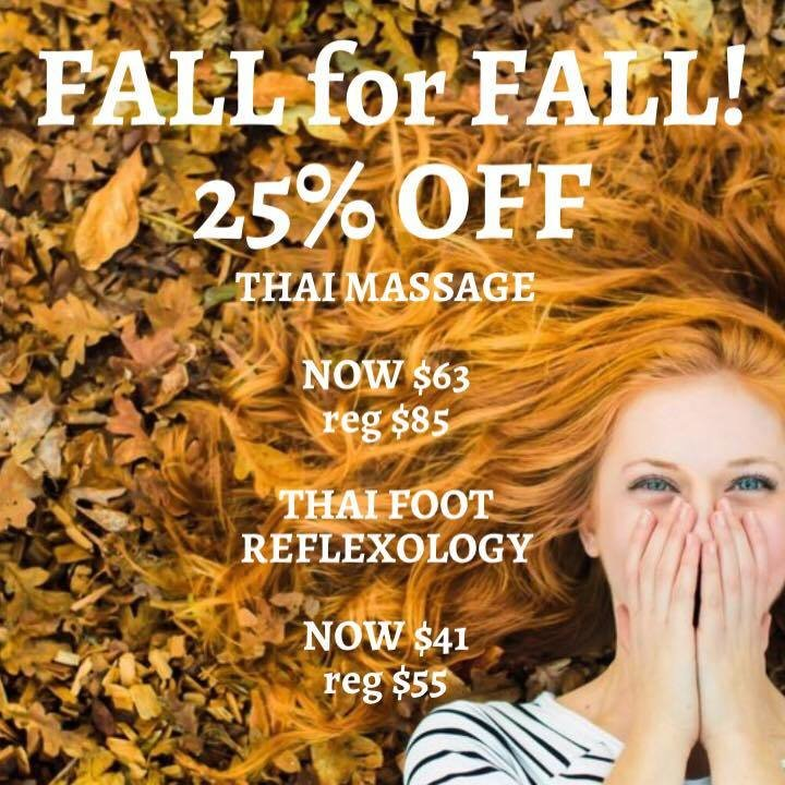 FALL for FALL! Thai Massage