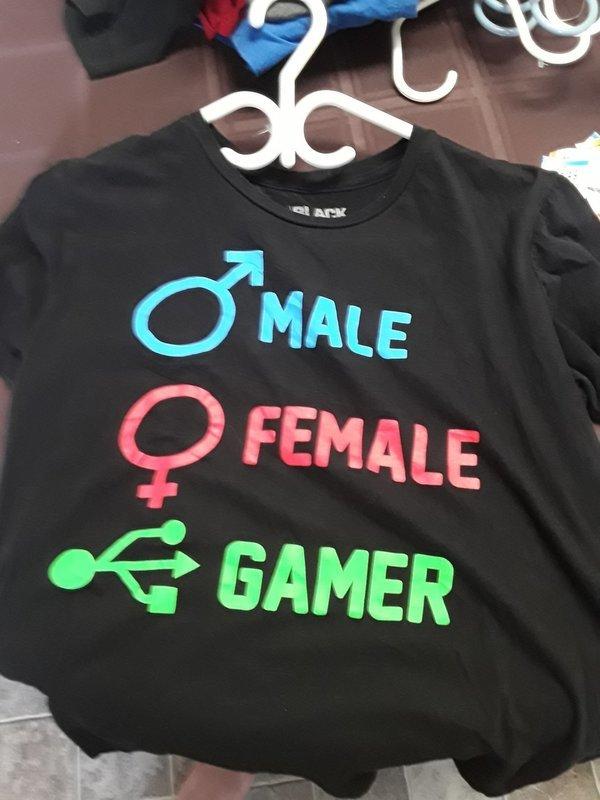 Male, Female, Gamer