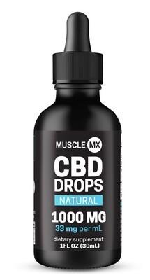 Muscle MX CBD Drops Natural 1000 MG 1 Fl ounce