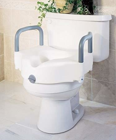 Guardian Elevated Toilet Seat with Padded Arms