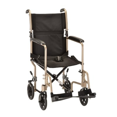 """Transport Chair Steel 19"""" Champagne or Black"""