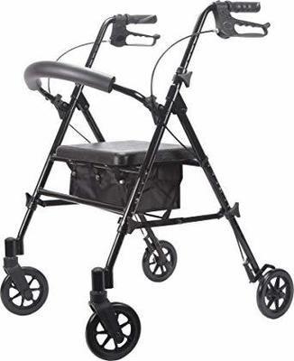 Viverity 4 Wheeled Adjustable Height Rollator-Black